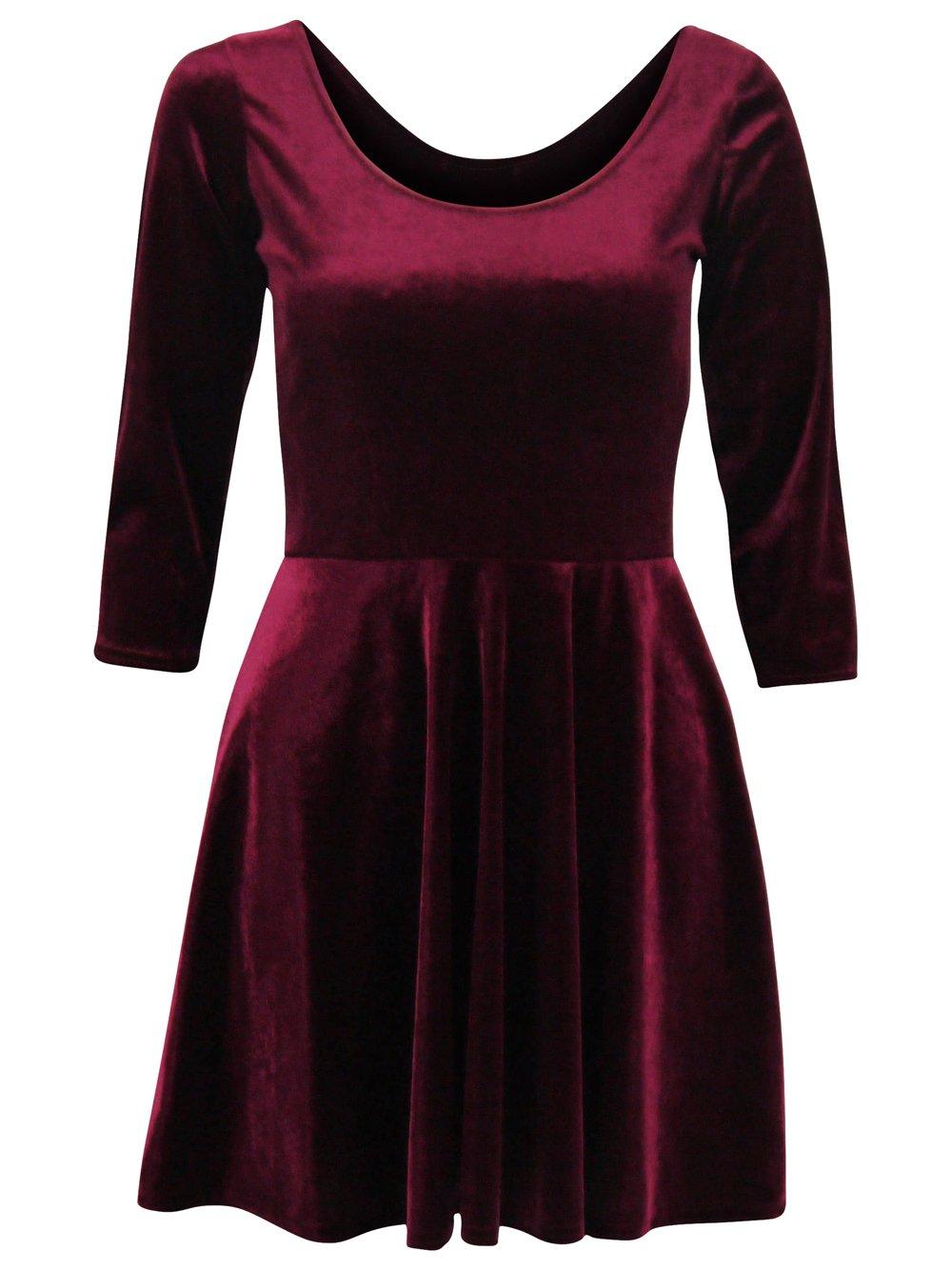 Velvet Skater Dress Picture Collection Dressedupgirl Com