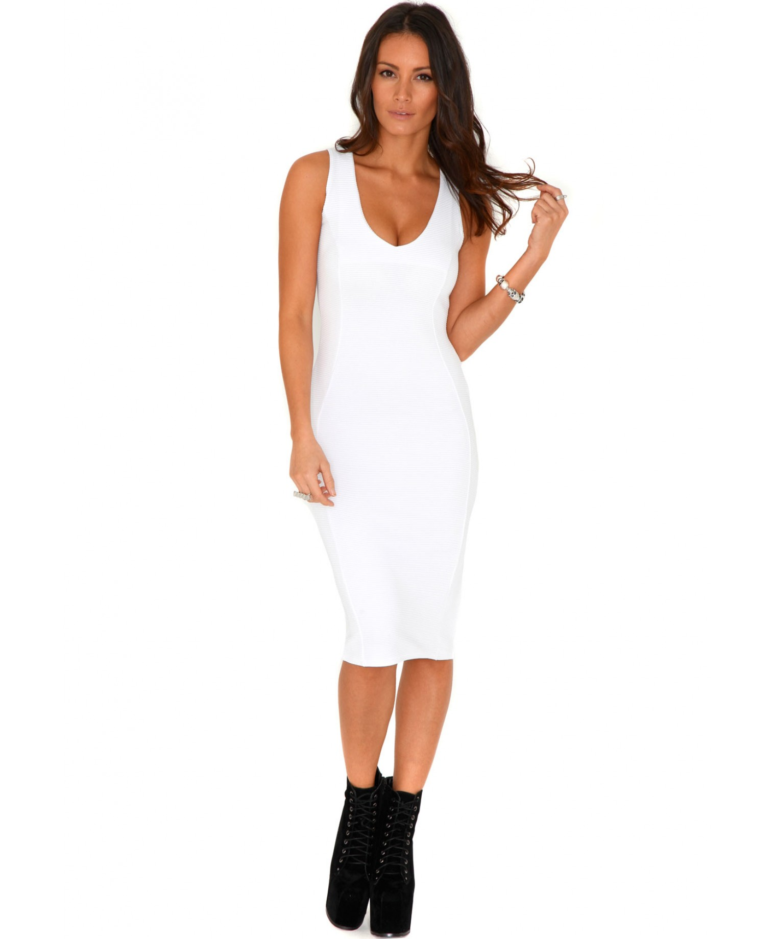White Bodycon Dress Picture Collection Dressedupgirl Com