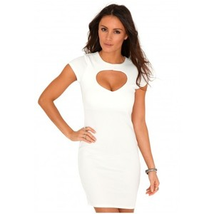 White Cut Out Bodycon Dress