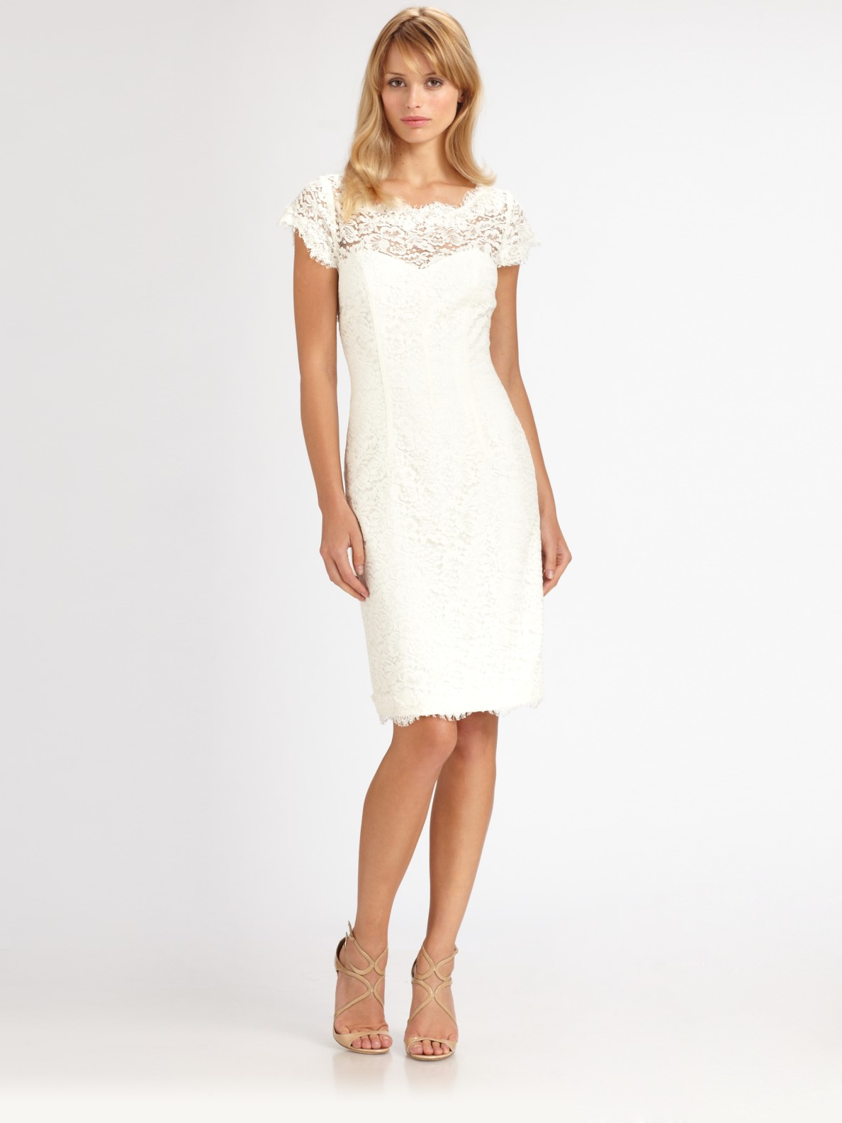White Lace Dress Dressed Up Girl