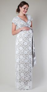White Lace Maternity Dress
