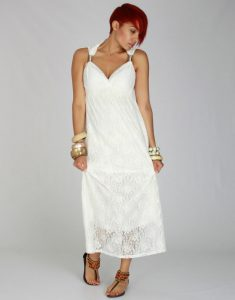 White Maxi Lace Dress