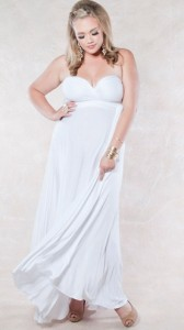 White Maxi Maternity Dress