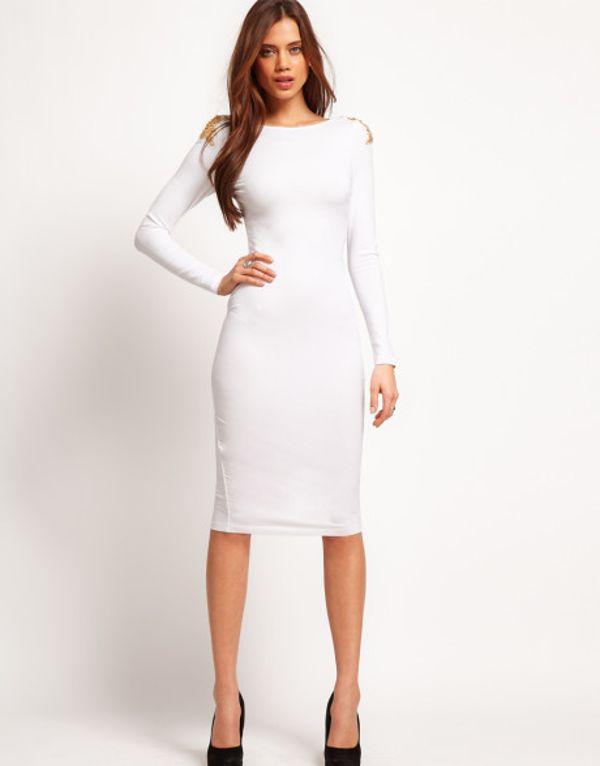 Plus Size Bodycon Dresses White - Holiday Dresses