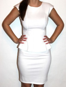 White Peplum Dresses