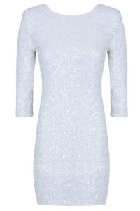 White Sequin Bodycon Dress