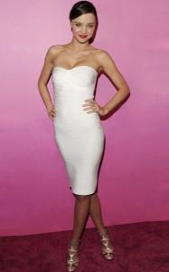 White Strapless Bandage Dress