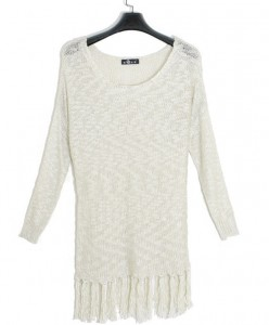 White Sweater Dress For Women