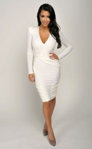 White Wrap Dress Long Sleeve