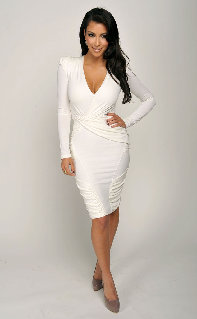 White wrap dress dressed up girl