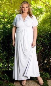 White Wrap Dress Plus Size