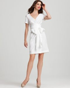White Wrap Dresses