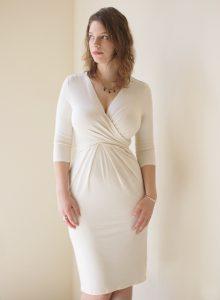 White Wrap Dresses for Women