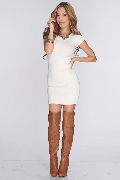 White Sweater Dress | Dressed Up Girl