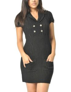Womens Black Sweater Dress