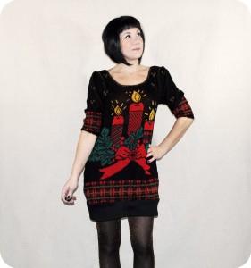 Womens Christmas Sweater Dress