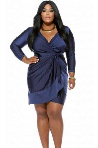 Wrap Dresses Plus Size