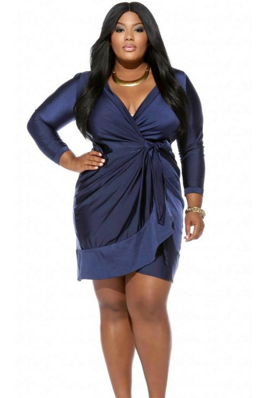 Wrap Around Dresses Plus Size