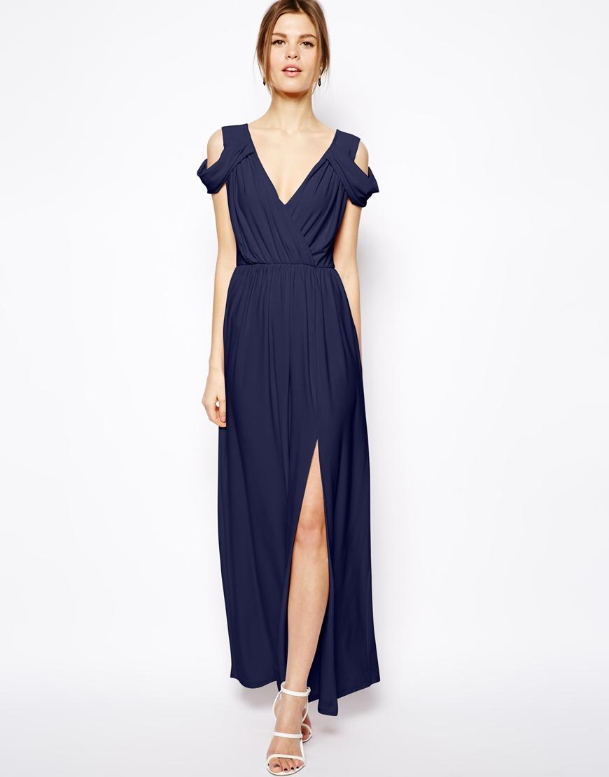 Wrap Maxi Dress Picture Collection Dressedupgirl Com