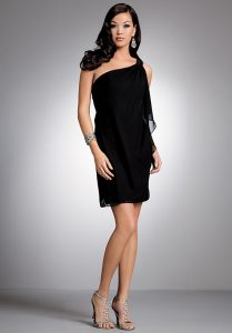 Black Chiffon Cocktail Dress