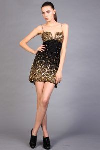 Black Gold Cocktail Dress