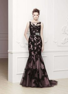 Black Lace Prom Dress