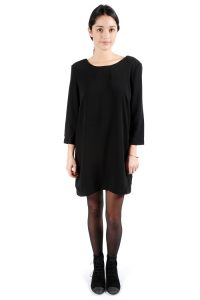 Black Long Sleeve Shift Dress