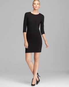 Black Sheath Dress with Sleeves