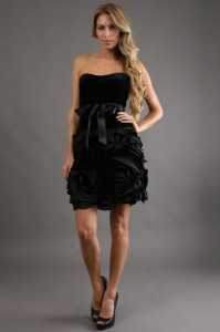Black Velvet Cocktail Dress