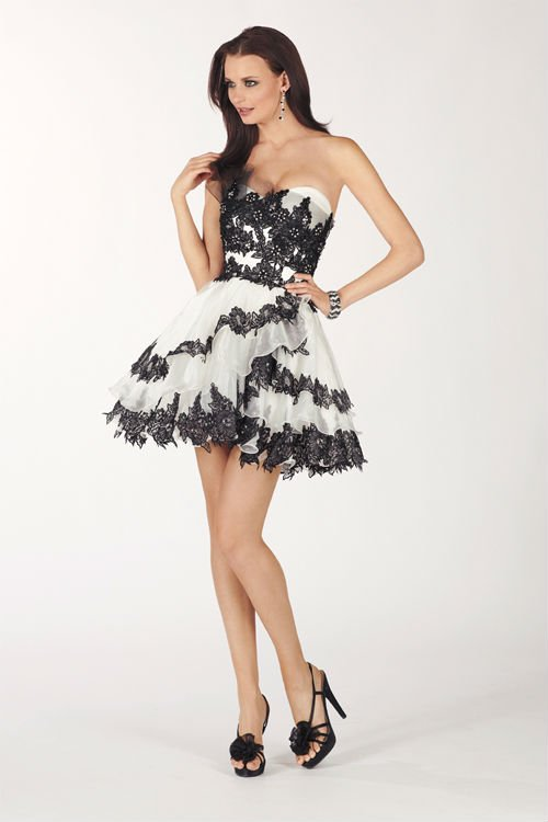 Black And White Cocktail Dresses Australia - Evening Wear