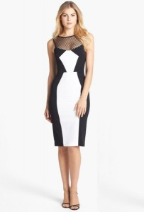 Black and White Sheath Dress