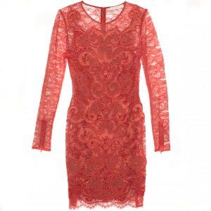 Coral Dress Lace