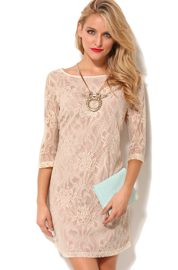 Lace Shift Dress Dressed Up Girl