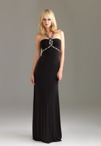 Long Black Sheath Dress