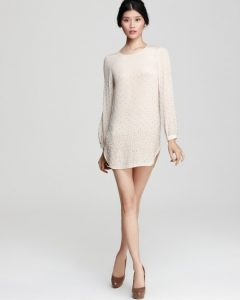 Long Sleeve Shift Dresses