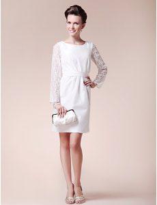 Long Sleeve White Cocktail Dress