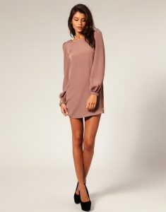 Long Sleeved Shift Dress