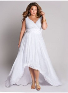 Plus Size White Cocktail Dress