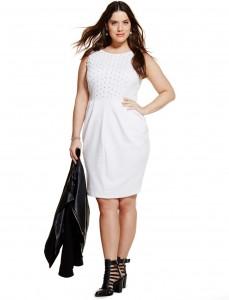Plus Size White Sheath Dress