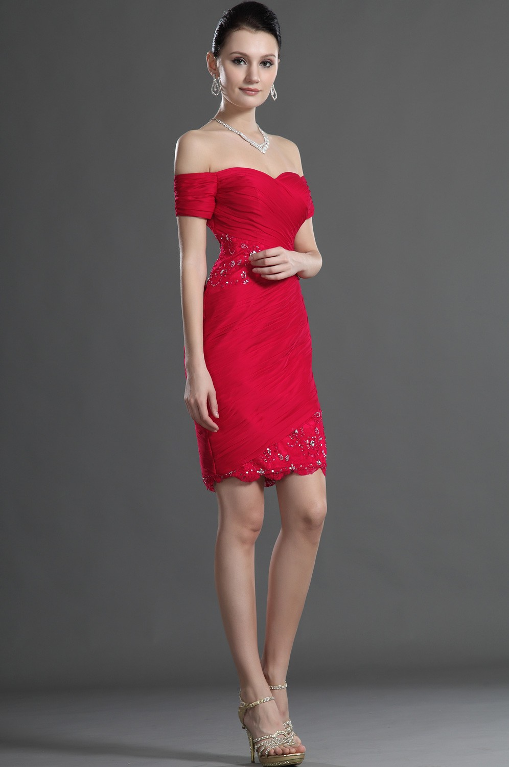 Womens Red Evening Dresses 53