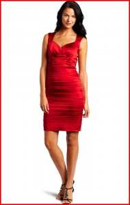 Red Satin Cocktail Dress