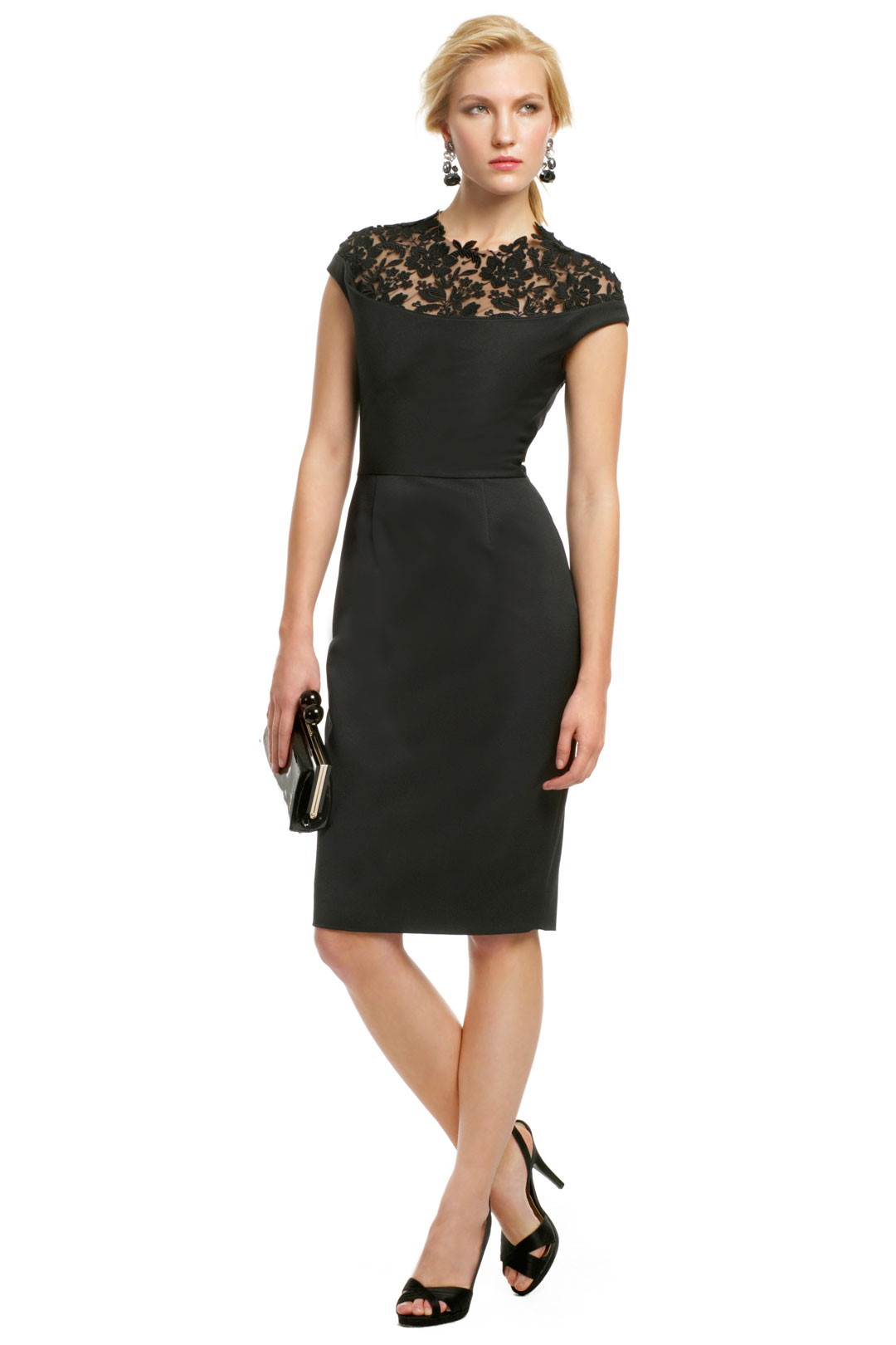 black sheath dress dressed up girl