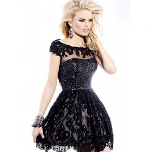 Short Lace Prom Dresses