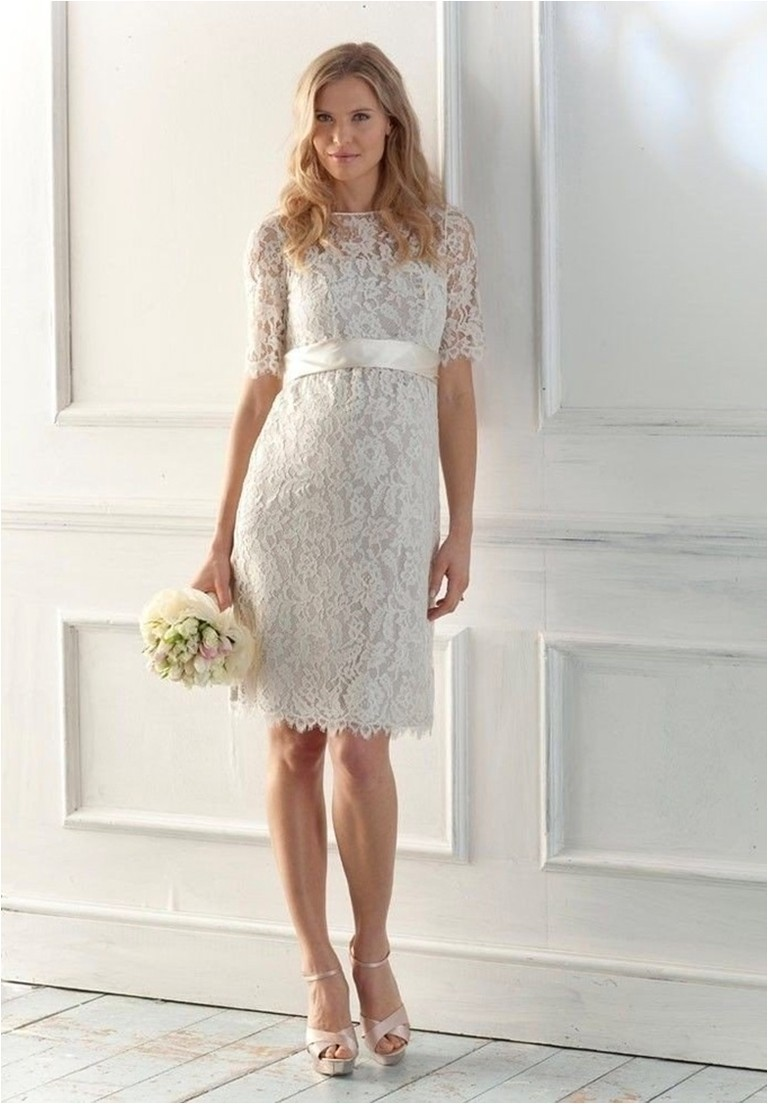 Sheath wedding dresses dressed up girl for Short sheath wedding dress