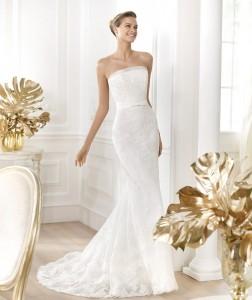 Strapless Sheath Wedding Dress