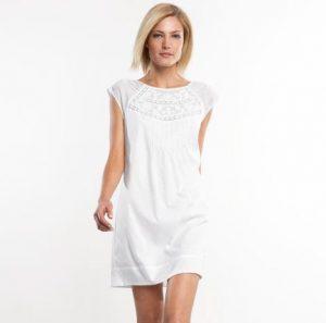 White Cotton Shift Dress