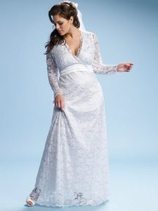 White Lace Dress Plus Size