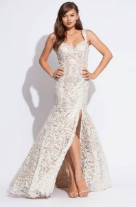 White Lace Prom Dress