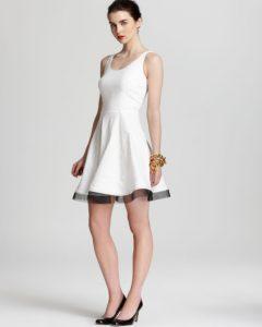 White Linen Sheath Dress