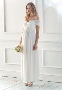 White Maternity Dresses for Weddings